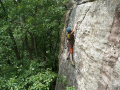 Rock Climbing Photo: John K. finally getting a good piece in.   Photo b...