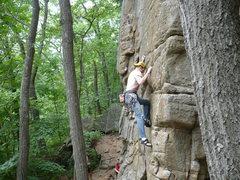 "Rock Climbing Photo: Nick Rhoads leading ""Dancing Madly Backwards ..."
