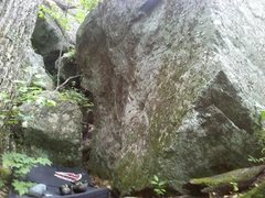 Rock Climbing Photo: This is what you see walking towards the problem a...