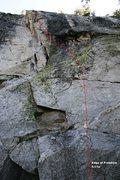 Rock Climbing Photo: Edge of Freedom Topo