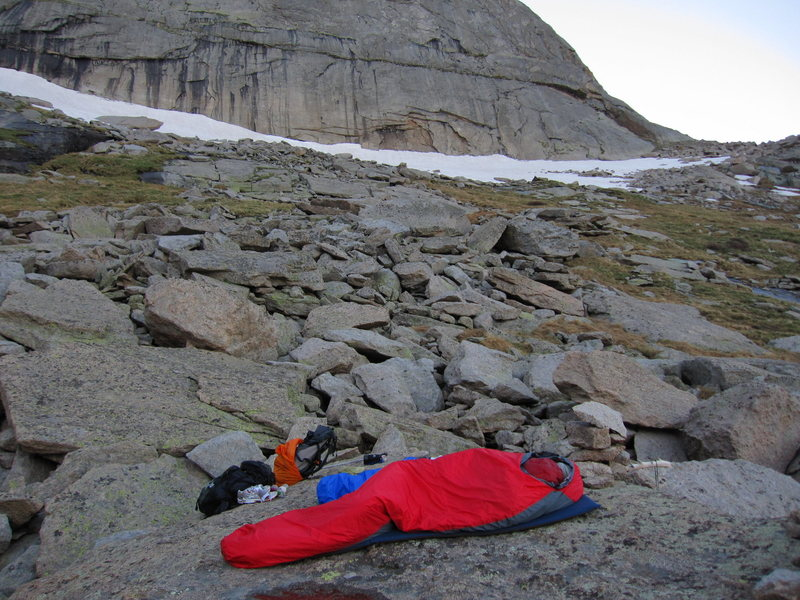 Rock Climbing Photo: Bivy at the Spearhead.