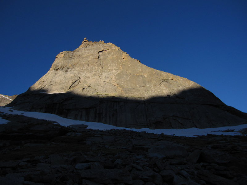 Rock Climbing Photo: Sun on the Spearhead.