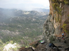 Rock Climbing Photo: Helluva view from the Orifice Wall.