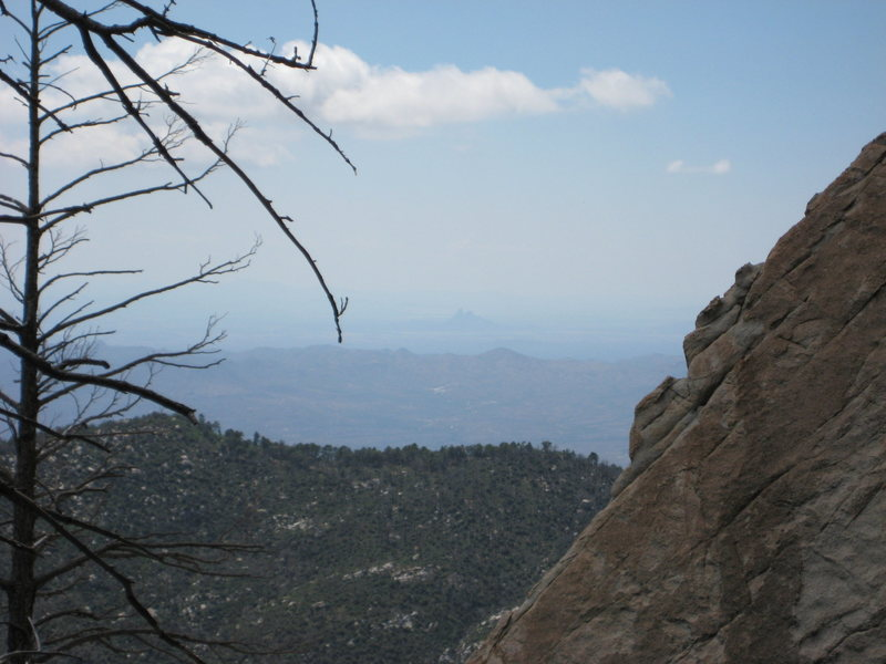 The view from high on the northwest slopes of Mount Lemmon.