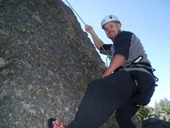 Rock Climbing Photo: ME CLIMBING WITH SYLVAN ROCKS AT SYLVAN LAKE JULY ...
