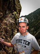 Rock Climbing Photo: Yellow Spur 10b Varition, mouth full of food