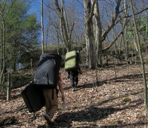 Rock Climbing Photo: The walk up to the A.V.P. Boulders at Grayson High...