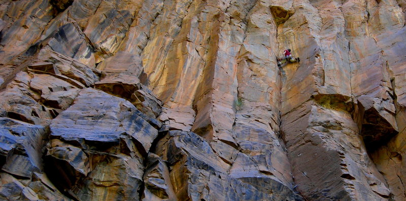 Rock Climbing Photo: The last rest before the top crux.