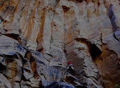 Rock Climbing Photo: Heading into it.