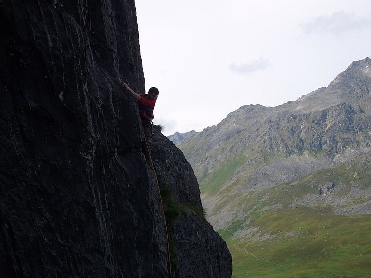 The Archangel Valley of Hatchers Pass, with Tom Scupp leading an alpine sport route