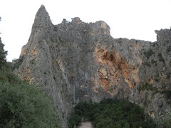 Rock Climbing Photo: Looking north east at Sa Gubia.  From left to righ...