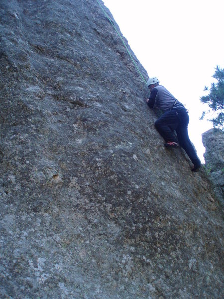 "MY FIRST TRIP UP A ""BEGINNERS ROCK""...."