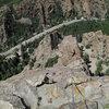 Maura high on the Standard Ridge route.