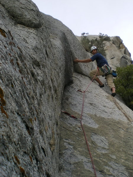 Rock Climbing Photo: Just past the brief slab moves.