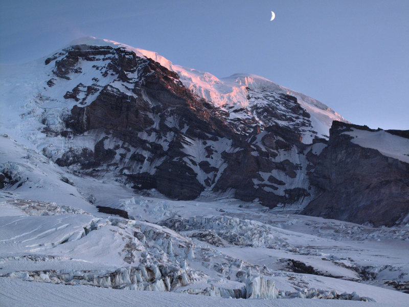 Rock Climbing Photo: Sunset from Winthrop Glacier. July '09.