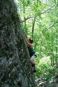 Rock Climbing Photo: Allie having fun!