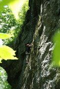 Rock Climbing Photo: Allie climbing