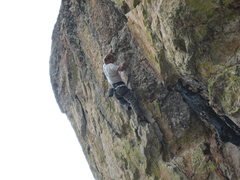 Rock Climbing Photo: Yours truly at the redpoint crux.  This is one of ...