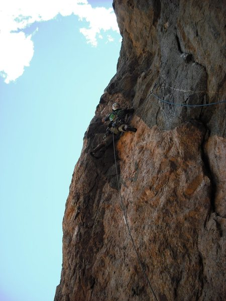 Rob Van Aernem just past the crux.