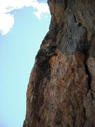 Rock Climbing Photo: Rob Van Aernem just past the crux.