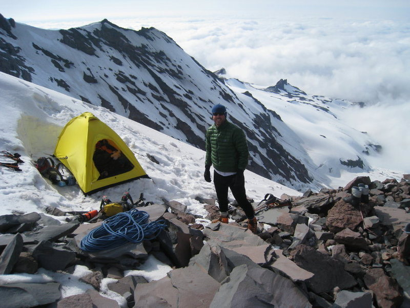 Rock Climbing Photo: Camp at Thumb Rock (Late June/09')