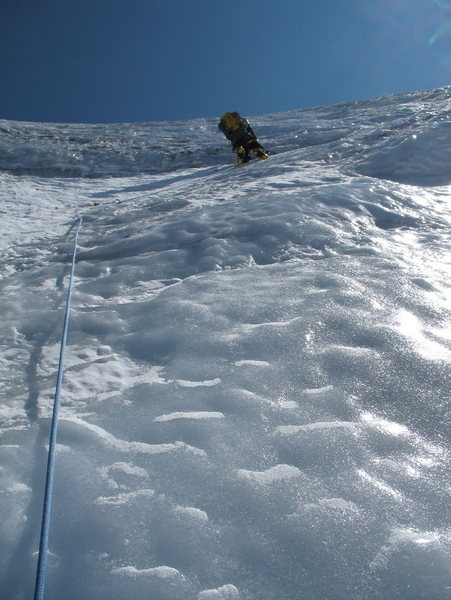 Final ice pitch before reaching Liberty Cap (above the schrund) on 6/26/09.
