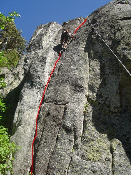 Rock Climbing Photo: Climber on Here and Now