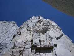 Rock Climbing Photo: A 70m rope will get you from the notch to the chim...