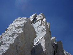 Rock Climbing Photo: We opted for the 5.7 exposure on the arete up arou...