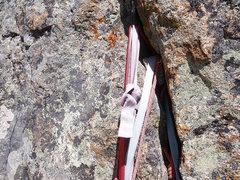 Rock Climbing Photo: Rappel anchor.