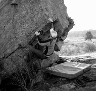 Rock Climbing Photo: The Highland Welcoming Boulder, the closest boulde...