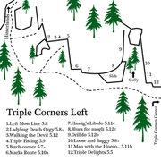 Rock Climbing Photo: a map of the left end of Triple Corners... lots of...