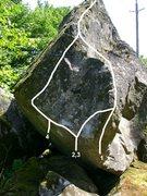 Rock Climbing Photo: 1. The Two Trees V2 2. Glide Path V5 3. The Black ...