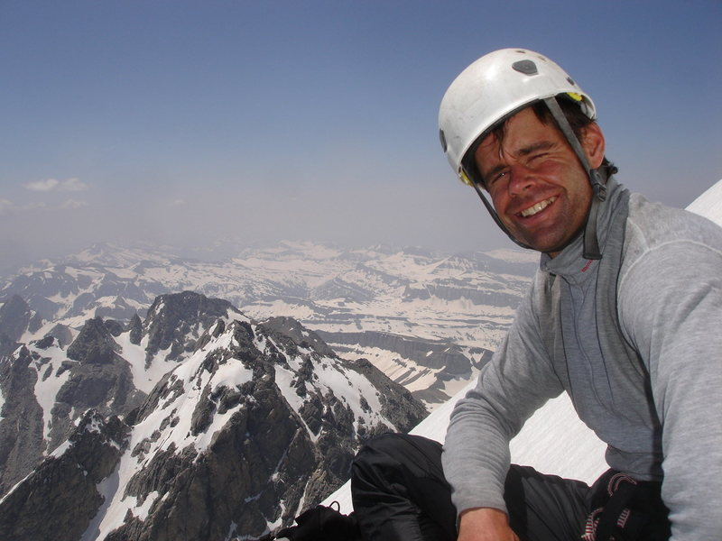 Rock Climbing Photo: Top of the Exum Ridge, Grand Teton 2008.