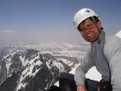 Rock Climbing Photo: Top of the Exum Ridge, Grand Teton 2008.