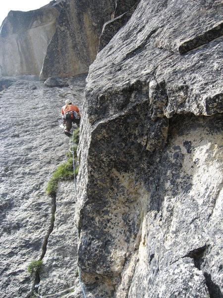 Rock Climbing Photo: Climbing pitch 4.