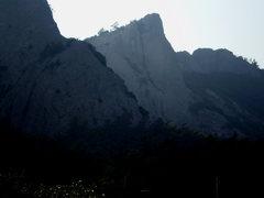 Rock Climbing Photo: Rock potential, big overhang from a long way away.