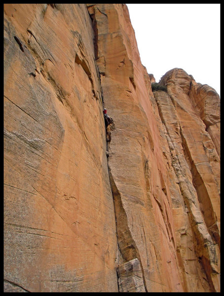 Rock Climbing Photo: Joe Garcia passing the second roof of P1 on The Go...