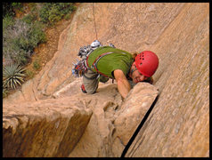 Rock Climbing Photo: Just past the crux of the first pitch of The Golde...