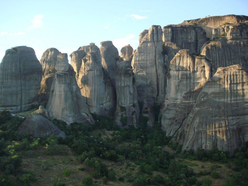 Some of the nearly 100 pinnacles of Meteora.