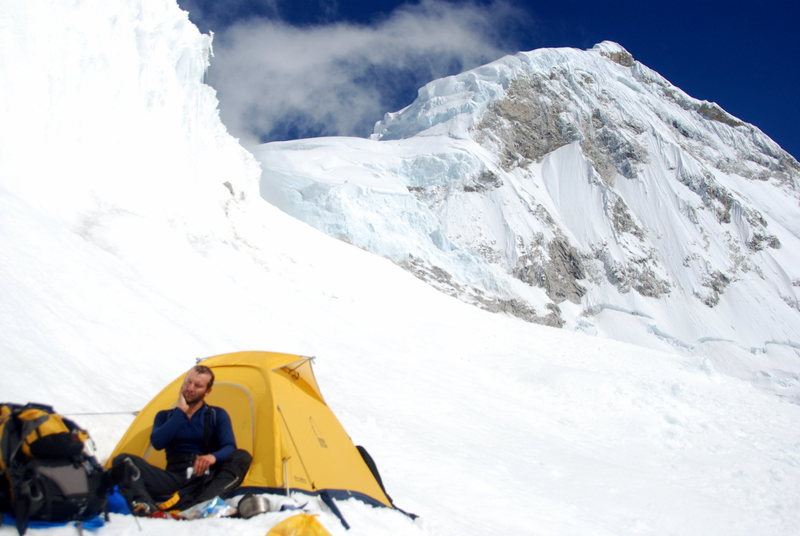 Glacier camp on Huandoy Sur