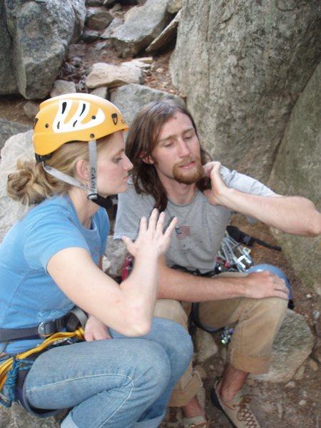 Rock Climbing Photo: mmmmm, chicken wings.  Comparing beta...