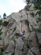 Rock Climbing Photo: Indistinction 5.8 Not Huston Crack, but a fun litt...