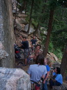 Rock Climbing Photo: Cobb Rock 7.7.09- the crowd