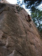 Rock Climbing Photo: Cobb Rock 7.7.09- WiledHorse making easy work of t...