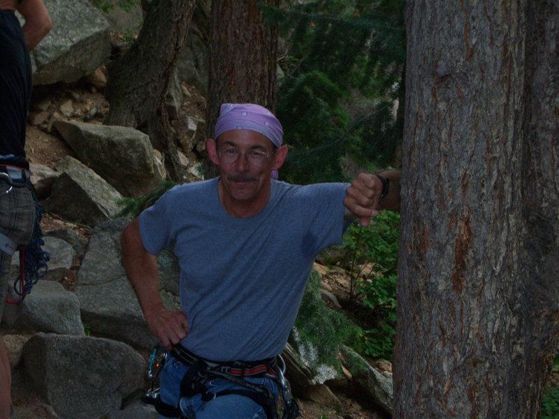 Rock Climbing Photo: Cobb Rock 7.7.09- awww Lee