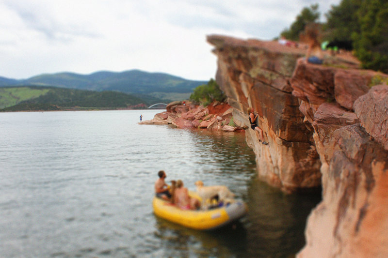 Deep Water Soloing, Flaming Gorge, Utah