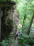 Rock Climbing Photo: Nick working up
