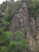 Rock Climbing Photo: A shot of the Minnesota Strip taken from kayaks wi...
