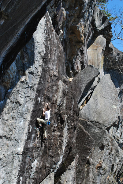 Rock Climbing Photo: Climbing Waimea 5.10d Rumney, NH
